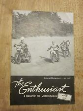 1948 Harley Davidson The Enthusiast Magazine July Motorcycle Racing Montgomery