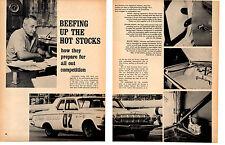 1964 BEEFING UP THE HOT STOCKS / DRAG RACING  ~  NICE ORIGINAL 8-PAGE ARTICLE