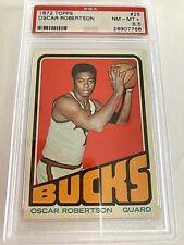 1972 Topps # 25 Oscar Robertson  PSA NM-MT 8.5