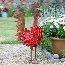 Smart Garden Red & Antique Bronze Bertie Rooster Chicken Garden Ornament