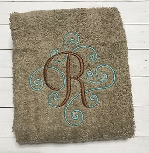 Monogram Hand towel Bathroom hand towel
