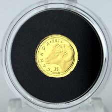 Canada 2014 25-cents Rocky Mountain Bighorn Sheep 0.5g 99.99% Pure Gold Proof