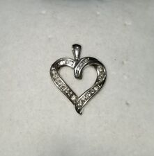 Helzberg Diamond Sterling silver heart Pendant for a chain necklace HDS
