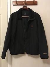 Nautica NX2000 Men's Black Jacket with White and Yellow Trim