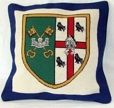 Oxford St Peter's College Heraldic Needlepoint Cushion Cover Tapestry Handmade