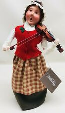 Byers Choice 2015 Christmas Caroler Williamsburg Colonial Musician Woman Violin