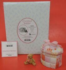 Cherished Teddies Valentines Box Quilted Heart Keepsake W/Bear Figurine 4020584
