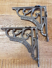 "A Pair of Cast Iron Covent Garden 6"" Shelf Brackets Railway / Vintage / Retro"