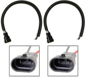 Wire Pigtail Male Extension 9006 HB4 Two Harness Fog Light Connector Plug Bulb