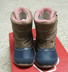 SEE KAI RUN NEW Baby Toddler Girls Size 5 US Baker WP Brown Zip Up Winter Boots