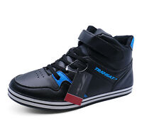 MENS BLACK LACE-UP CASUAL TRAINERS PLIMSOLLS PUMPS ANKLE BOOTS SHOES SIZES 6-11