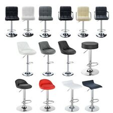 More details for 2x bar stools gas lift swivel stool hub club cafe breakfast chairs pu leather uk