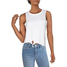 Chaser Womens Hi-Low Sleeveless Tie Front Top Shirt BHFO 7734