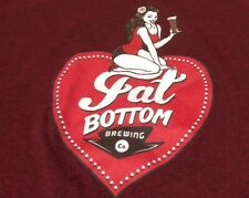 Fat Bottom Brewing Company Bolder Sexier Slim Large T-shirt Usa Alcohol