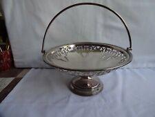 More details for vintage walker & hall silver plated fretted pedestal bowl height 10 x 21 cm