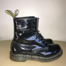 Dr Martens Air Wair Boots Size 3 Black Patent Leather