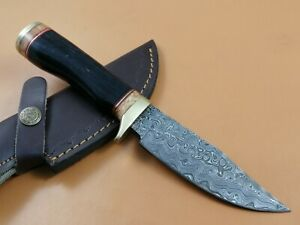 "9"" INCH CUSTOM HAND MADE DAMASCUS STEEL HUNTING KNIFE CF-7701"