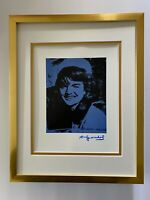 ANDY WARHOL + 1984 SIGNED JACKIE KENNEDY POP ART PRINT MATTED 11X14 + LIST $595