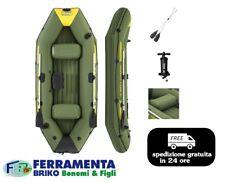 BESTWAY CANOTTO GOMMONE 291X127CM GONFIABILE MARINEPRO TENDER + KIT REMI + POMPA
