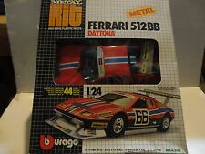 Burago Red Ferrari 512BB Metal Kit 1:24 Scale