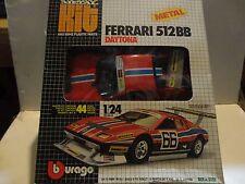 Burago Red Ferrari 512BB Metal Kit 1:24 Scale