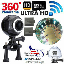 32GB WIFI 4K 360° Panoramic 1080P Waterproof Sports DV Camera Action V1 +Battery