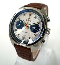 Zodiac Grandrally Swiss Chronograph Watch White/Blue Panda Dial Sapphire Crystal