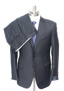 NWT PAL ZILERI Solid Gray Loro Piana Super 150's Slim Fit Suit 54 8L 44 Fits 42