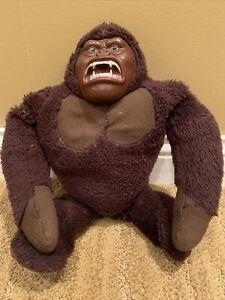 Vintage Mego 1976 King Kong Rubber Face Plush Toy Gorilla Stuffed Animal Movie