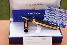 "UNIQUE stylo plume 18 kts WATERMAN EXCEPTION big size ""Night and Day"" Gold NEUF"