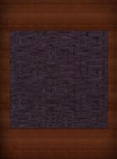 Purple Transitional Hand Hooked Squares Curls Blocks Area Rug Geometric DV13