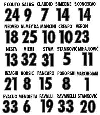 kit nome + numero nr puma neri o bianchi x maglia lazio centenario flock