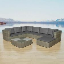 vidaXL Garden Sofa Set 24 Piece Wicker Rattan Grey Outdoor Lounge Couch Table