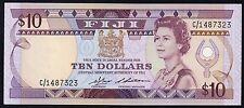 1986 Fiji 10 Dollars * Choice/ GEM UNC * p.84a  QEII Queen Elizabeth banknote