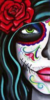 "3"" Sugar Skull Babe Chick Girl Sexy Colorful Day Of Dead Vinyl Cool Sticker"