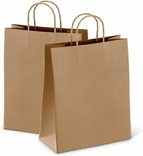 Kraft Brown Paper Handle Shopping Gift Merchandise Carry Retail Bags Choose Size