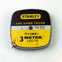 Vintage 10-Foot/3-Meter Patented STANLEY Steel Tape Measure