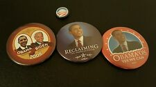 Barack Obama 4 official 2008 Presidential campaign pins and 1 with Joe Biden