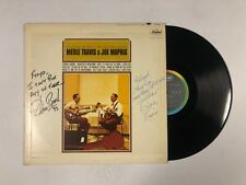 MERLE TRAVIS & JOE MAPHIS S/T LP Capitol T2102 US1964 VG+ SIGNED BY THOM+ROSE 6D
