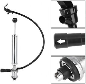 S Type - Beer Party Pump Draft Keg Tap hose Stainless Steel 8inch UK STOCK