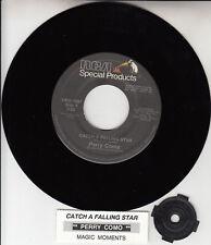 "PERRY COMO  Catch A Falling Star 7"" 45 rpm record NEW + juke box title strip"