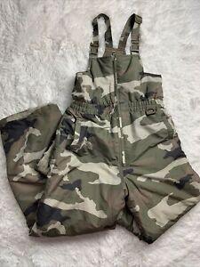 Athletic Works Boys Insulated Snow Ski Bib Pants Camouflage Size XL 14-16 Boys