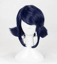 Miraculous Ladybug Wig Marinette Cosplay Wigs Blue Hair With Two Ponytails Wig