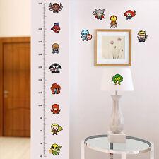 Movie  Roles Measure Height Chart Wall Sticker Kids Baby Nursery Room Decal Art