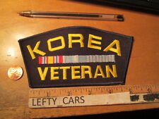 KOREA VETERAN EMBROIDERED CLOTH PATCH - SEW ON TYPE