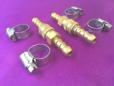 2 X Glp Propano Butano Gas 8mm Quick Release Conector Acoplador acoplamiento 4 Clips