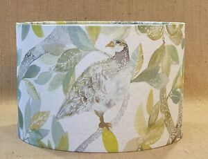 Voyage Partridge spring yellow green bird country drum lampshade table 30cm 40cm