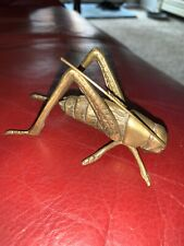 Vintage Brass Locust Insect Grasshopper Cricket Figurine Paperweight