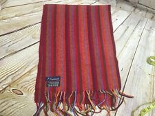 """SCHURWOLLE Fringed Scarf Wrap MultiColored 100%  Wool. Striped 10""""X67""""."""