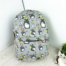 Anime My Neighbor Totoro Studio Ghibli School Shoulder Bags Gray Canvas Backpack